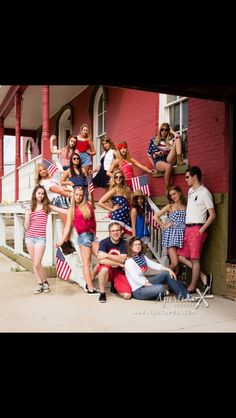 Independence Day shoot with Aperture senior models. Such fun red, white and blue outfits. Happy 4th of July, America!