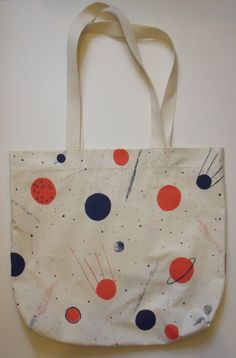 Planets Screen Print Space Bag by caitlinhinshelwood on Etsy, £35.00