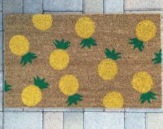 Bunny Hop doormat / Custom Outdoor Welcome Mat / Housewarming