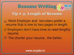 #Tip #4 #Content_Writing. #Resume_Writing!!   www.ncrjobs.in