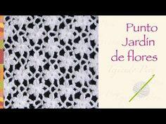 Punto jardín de flores tejido a crochet! Incluye diagrama ;) - YouTube