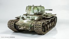KV-1 model 1942 Heavy Cast Turret Tank 1/35 Scale Model