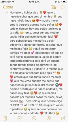 Mi querido amor 😍 - Hard Tutorial and Ideas Love Boyfriend, Boyfriend Texts, Gifts For My Boyfriend, Boyfriend Quotes, Cute Relationship Texts, Cute Relationships, Love Phrases, Love Words, Tumblr Love