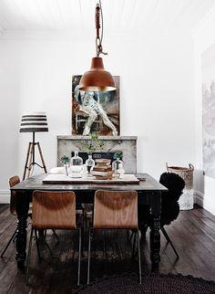 Modern rustic interior decor at The Estate Trentham Modern Rustic Decor, Rustic Theme, Rustic Style, Rustic Doors, Rustic Signs, Rustic Curtains, Interior Decorating, Interior Design, Rustic Kitchen