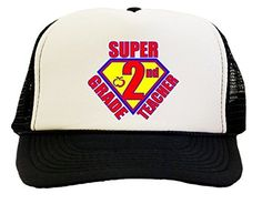Super 2nd Grade Teacher Trucker Hat Cap
