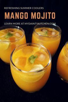 Mango Lemonade, Mango Mojito, Watermelon Mojito, Mango Fruit, Aam Panna Recipe, Mango Milkshake, Mint Simple Syrup, Non Alcoholic, Alcoholic Beverages