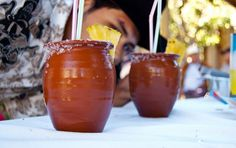 Cantaritos: ice, lime and Orange juice, squirt, salt, tequila and cheers!!