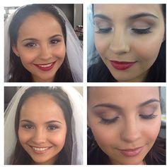 """Maquillaje de novia clásico al que le agregas labial rojo y delineador negro y lo conviertes en una hermosa novia """"bombshell"""" Makeup By: Erika Arboleda  Ig: @maquillajeerikaag"""