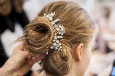 Hair by Varin at Oscar de la Renta # Bridal show# photography: Geraldine Petrovic