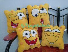 Spongbob mini pillow ^ ^