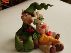 polymer clay porcelana fria pasta francesa masa flexible fimo gum paste pasta goma modelado figurine modelling topper biscuit xmas navidad natal christmas pascua