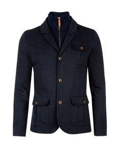 THATJAK - Zip through jacket - Navy   Men's   Ted Baker