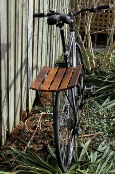 Bike Basket - wooden walnut bike basket. $70,00, via Etsy.
