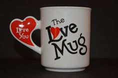 Vintage The Love Mug with I Love You Heart Shaped by TheThriftyLab