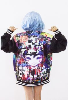 GoBoiano - 28 Times Anime Culture Fashion Was Extremely On Point thomas mcnulty glitch artwork print on back of jackets Japanese Street Fashion, Tokyo Fashion, Harajuku Fashion, Kawaii Fashion, Cute Fashion, Asian Fashion, Fashion Outfits, Mode Renaissance, Mode Kawaii