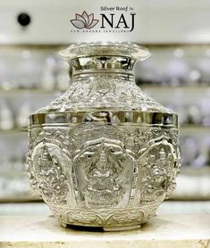 Aalayam Collections - Beautiful embossed and sculptured Ashtalakshmi Binde. Common and regular products you get everywhere but quality and high finished products available Only at Silver Roof by NAJ Call or WhatsApp