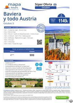 Baviera y todo Austria salida 5 Octubre**Precio final desde 1149** ultimo minuto - http://zocotours.com/baviera-y-todo-austria-salida-5-octubreprecio-final-desde-1149-ultimo-minuto/