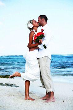 Casual Beach Wedding  Info: TRAVEL JOURNEYS www.travel-journeys.com