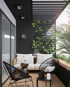 Small Balcony Design, Small Balcony Decor, Balcony Ideas, Balcony Garden, Balcony Plants, Patio Ideas, Garden Ideas, Small Balcony Furniture, Terrace Decor