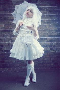 ME 2.0- All White Party :: A white lolita style