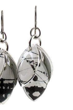 Diana Ferguson Petals to the Metal Paper Earrings
