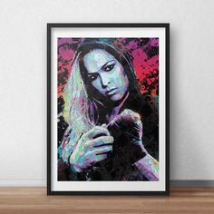 Ronda Rousey, UFC, spray paint, street art, Pop Art style print / poster