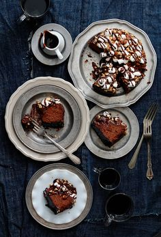 Don't know what's better, the moody photography or the Rocky Road Cheesecake