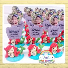 ARIEL- THE LITTLE MERMAID PHOTO STANDEE SOUVENIR FOR 1ST BIRTHDAY 100% HANDMADE MATERIAL : POLYMER CLAY Mermaid Theme Birthday, Birthday Party Themes, Birthday Souvenir, Mermaid Photos, Ariel The Little Mermaid, Facebook Sign Up, Polymer Clay, Handmade, Hand Made