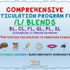 50% off!Comprehensive /L/ Blends Articulation Unit: BL, CL