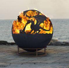 Dragon Fire Ball : translation missing: en.style.garden-.rustic Garden  by World Of Weave UK Ltd