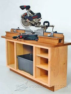 Miter Saw Station Plans - Miter Saw Tips, Jigs and Fixtures | WoodArchivist.com