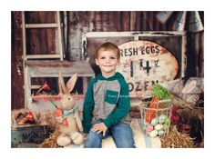 Easter Mini Sessions #tracyshoopmanphotography    #easterminisessions #rustic  #country # vintage #barn #eggs #bunny