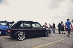 MK1 GTI. I want a mk1 cabriolet with those scirocco style *BIG* snowflake alloys.