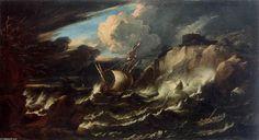 Tempête en mer - Pieter The Younger Mulier (1637-1701, Netherlands)