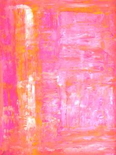"""Saatchi Online Artist: CarolLynn Tice; Acrylic 2013 Painting """"Pink and Orange Abstract Art Painting"""""""