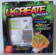 NIB 2009 Mattel Radica U Create Digital Music Making System #Radica