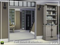 Sims 4 CC's - The Best: Bari Doors and Windows Part 2 by Mutske