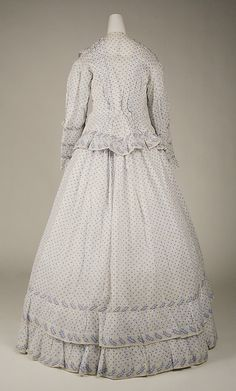 Dress, Morning  Date: ca. 1860 Culture: American Medium: cotton
