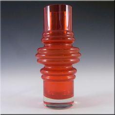 Riihimaki/Riihimaen Red Glass 'Tulppaani' Vase #1514 #1 - £50.00
