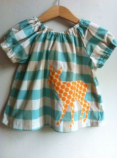Hey, I found this really awesome Etsy listing at https://www.etsy.com/listing/121525943/blue-check-deer-blouse