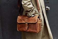 ONA | The Leather Bowery Camera Bag and Insert - Antique Cognac