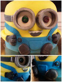 Minion Cake 😁   January 2016 January 2016, Minions, Cakes, Baking, Pies, Bread Making, Patisserie, Backen, Bread