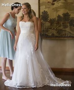 Sweetheart Wedding Dress with Removable Sash on Storenvy