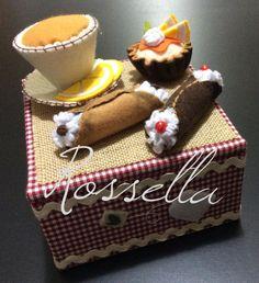 Tea box - felt