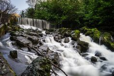 Crumlin River Waterfall. Crumlin Northern Ireland.