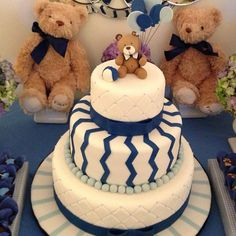 Baby Boy Baby Shower Cake | Cute! But Too Much Cake