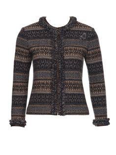 Schnittmuster Jacke 09/2011 #120B Style Magazin, Ruffle Trim, Sewing Patterns, Men Sweater, Knitting, Sweaters, Knits, Chanel, Inspiration