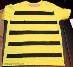 Creative Green Living: Bumble Bee Costume Tutorial {Inexpensive & No-Sew}