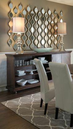 décoration avec miroirs ikea, salle de séjour avec meubles de couleur taupe