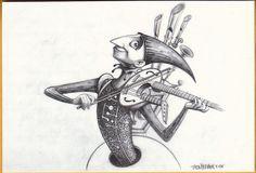 One Man Band Concept art by Jason Deamer Disney/Pixar